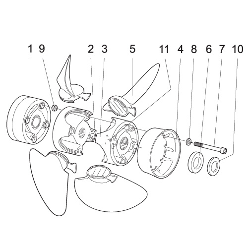 Technical drawing spare parts 70